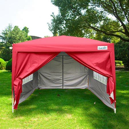 quictent silvox waterproof  ez pop  canopy commercial gazebo party tent red portable style