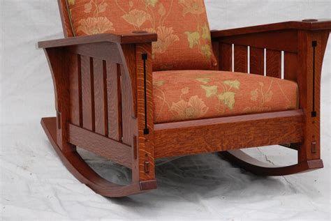 Stickley Rocking Chair Plans by Voorhees Craftsman Mission Oak Furniture Slant Arm