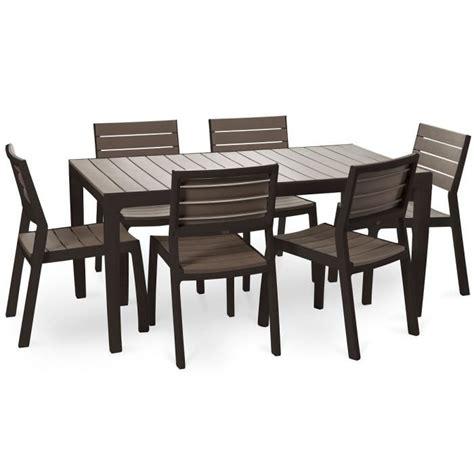 ensemble table et chaise de jardin en resine pas cher keter ensemble de jardin en résine imitation bois