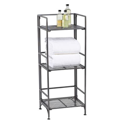 folding bookcase 3 shelf iron folding bookcase the container store