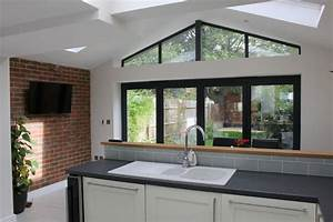 oak framed kitchen extension to listed farmhouse With how much does a ground floor extension cost