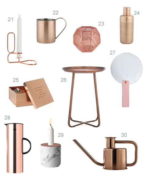 Modern Copper Bathroom Accessories by Get The Look 40 Modern Copper Home Accessories Stylecarrot