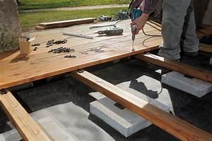 construire une terrasse en bois toutes les etapes With construire terrasse en bois