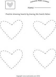 Heart Shape Tracing Worksheets Preschool