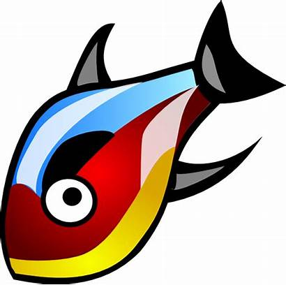 Fish Vector Clip Colorful Clipart Clker Fishing
