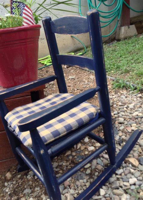 baby toddler rocking chair navy blue distressed by
