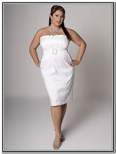 3 short white plus size party dresses white plus size With plus size short wedding dresses with sleeves