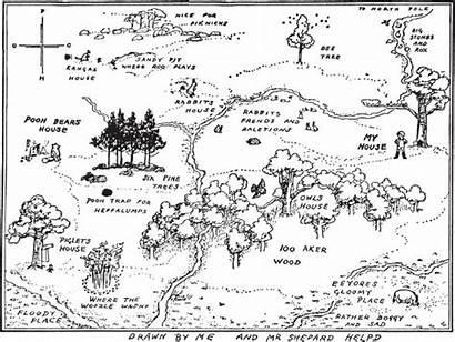 Pooh Map Acre Wood Hundred Winnie Mmm