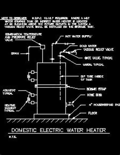 domestic water distribution sample drawings