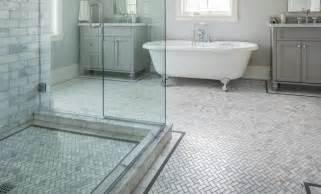Bathroom Sinks Los Angeles by Carrara Marble Herringbone Bathroom Traditional