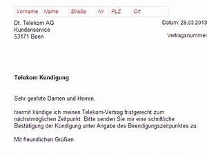 Kündigungsfrist Wohnung Beispiel : telekom telefon k ndigung vorlage download chip ~ Lizthompson.info Haus und Dekorationen