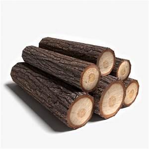 3d model wood logs