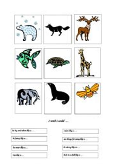 animal actions worksheets