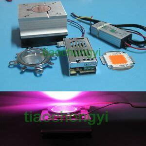 grow led len 30w led grow light 380 840nm chip driver heatsink cooling fan led lens 30w diy ebay