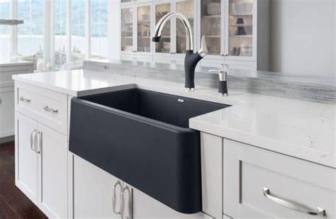 black farm sinks for kitchens blanco ikon silgranit apron front farmhouse kitchen sink 7871