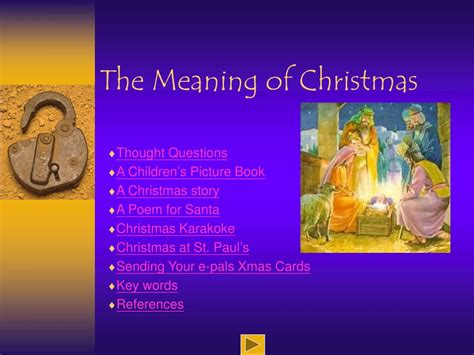 ppt the meaning of christmas powerpoint presentation