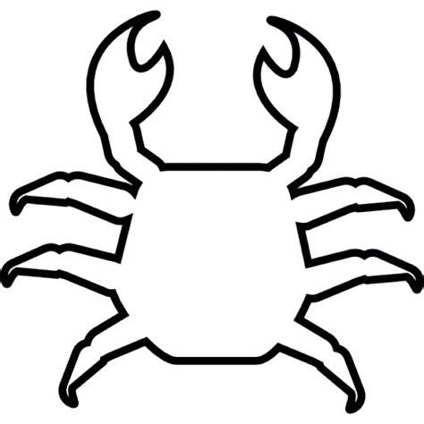 crab template crab shape ios 7 symbol icons free