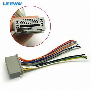 Leewa Car Audio Stereo Wiring Harness For Honda Accord  Crosstour  Civic  Crv  Fit Pluging Into Oem