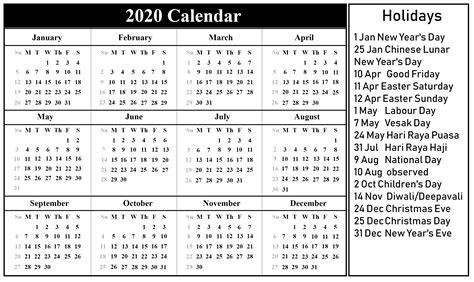 singapore calendar templates excel word