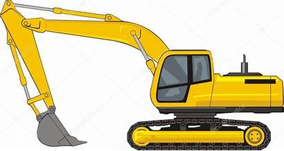 Excavator Clipart Backhoe Vector Illustration Construction Illustrations