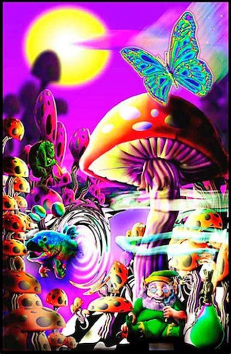 Trippystorecom  Magic Valley  Black Light Poster