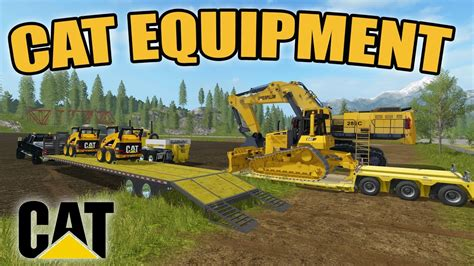 farming simulator  hauling cat equipment  dozer