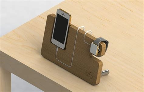 apple iphone chargers wooden apple dock and iphone charger apple iwatch