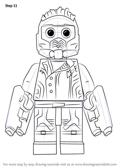 learn   draw lego star lord lego step  step