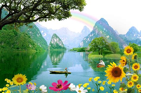 pemandangan alam lukisan foto wallpaper  dinding harga