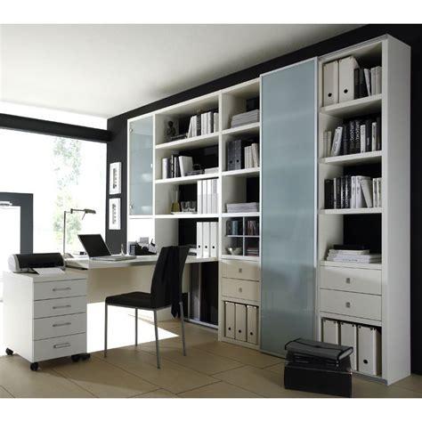 Arbeitszimmer Schrank wohnzimmer aktenschrank mit schreibtisch lack wei 223