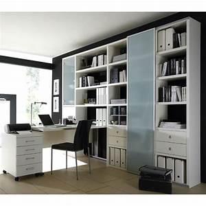 Schrankwand Mit Integriertem Schreibtisch : wohnzimmer aktenschrank mit schreibtisch lack wei ~ Watch28wear.com Haus und Dekorationen