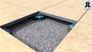 Plot Reglable Terrasse : pose de dalle sur gravier ~ Edinachiropracticcenter.com Idées de Décoration