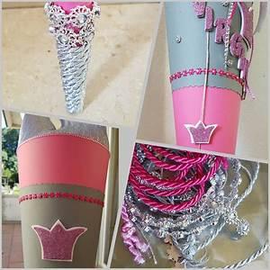 Schultüte Selber Basteln Motive : diy rosa prinzessin krone schult te selber machen chris ta s blog ~ Watch28wear.com Haus und Dekorationen