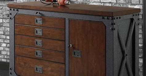 sturdy industrial style inspired rolling workbench