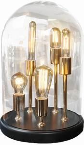 Lampe Ampoule Filament : lampe globe ronde poser avec 5 ampoules filament zacchary ~ Teatrodelosmanantiales.com Idées de Décoration