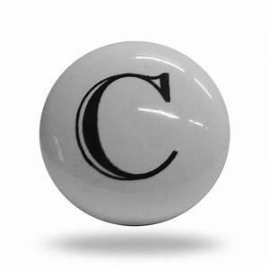 ceramic letter c door step knob With letter door knobs
