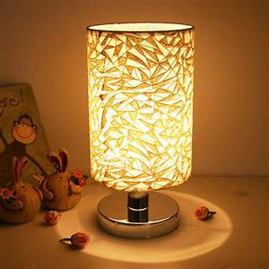 Small, Table, Lamps, Modern, Living, Room, Fabric, Shade, E27, Decorative