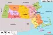 Massachusetts State Maps | USA | Maps of Massachusetts (MA)