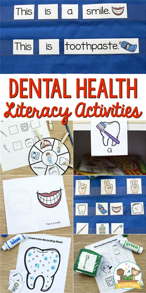 dental health literacy activities for preschool pre k pages 978   February Theme for Preschool 1