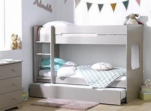 Lit Au Sol Pour Bébé : 2 enfants dans la m me chambre lits gigognes ou lit superpos ~ Dallasstarsshop.com Idées de Décoration
