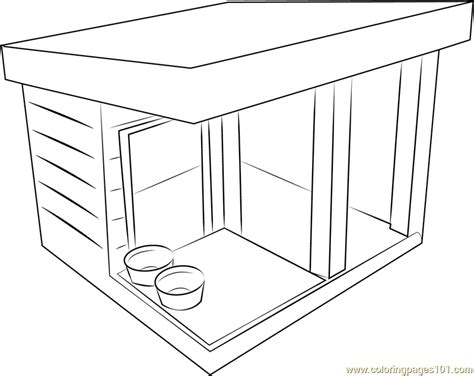 dog shed coloring page free dog house coloring pages