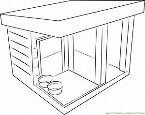 Dog Shed Coloring Page - Free Dog House Coloring Pages ...