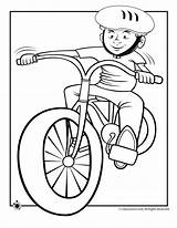 Coloring Bike Riding Boy Pages Helmet Bicycle Ride Cycling Cartoon Drawing Spring Dirt Clipart Colouring Cliparts Disney Fall Library Fun sketch template
