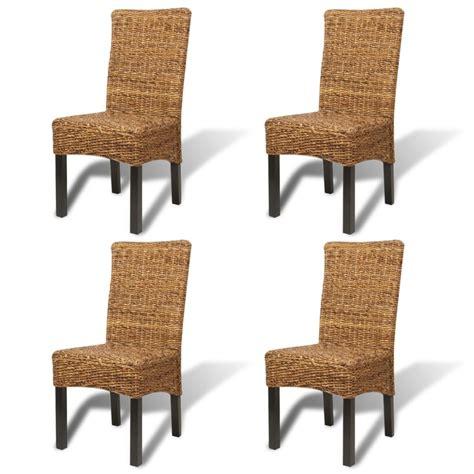 set de cuisine en rotin vidaxl set de 4 chaises en rotin abaca brun faites à la vidaxl be