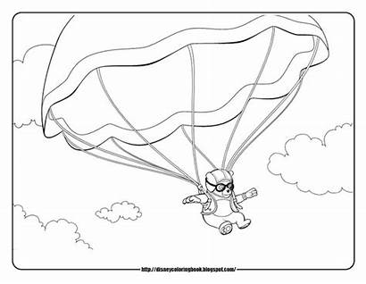 Coloring Parachute Pages Oso Agent Special Skydiving