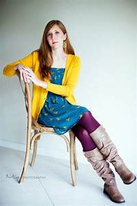 Fall! Mustard cardigan teal dress plum tights and boots || Delighting in Today | What I Wanna ...