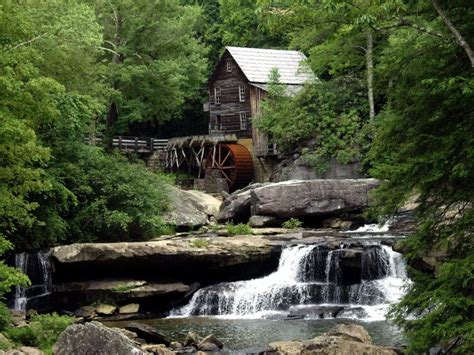 glade creek grist mill  west virginia beautiful places