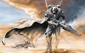 Robot warrior in the desert wallpaper #38560