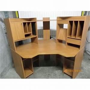 bureau d39angle beige achat vente neuf d39occasion With awesome bureau d angle avec surmeuble 7 decorer