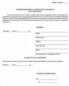 sample uniform marketing and delivery agreement ag With legal documents delivered